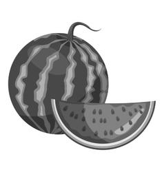 Watermelon icon gray monochrome style vector image