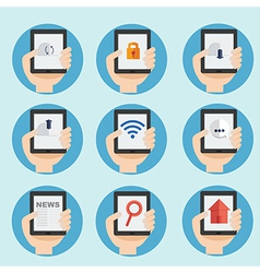 Web and internet icon in flat design vector