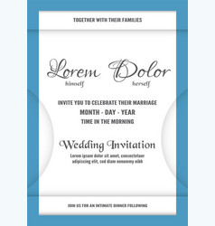 wedding invitation is soft blue and white color vector image