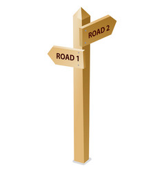 wooden guidepost vector image