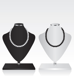 Black and white mannequin jewelry stand vector image