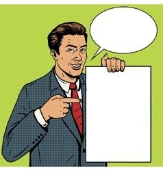 Businessman show poster pop art style vector image vector image
