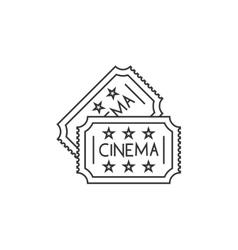 Cinema ticket line icon vector image