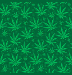 marijuana seamless pattern cannabis is an endless vector image