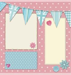 pink polka dot srapbooking background vector image