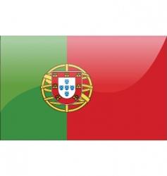 Portuguese flag vector image vector image