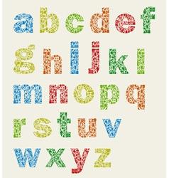 Art alphabet vector image vector image
