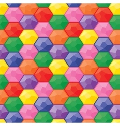Colorful game gemstones seamless pattern vector image vector image