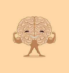 happy strong brain vector image