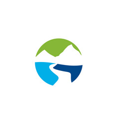 Mountain river logo vector