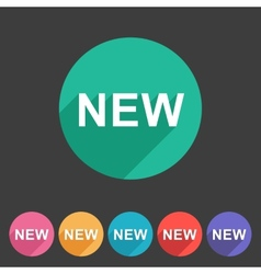 New badge flat icon sign set symbol vector image vector image