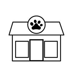pet shop store building vector image vector image
