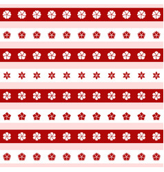 set of red and white flower icons vector image vector image