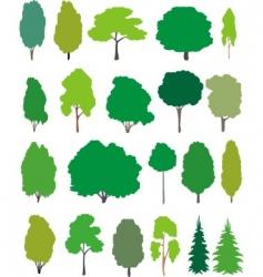 trees cartoon set vector image