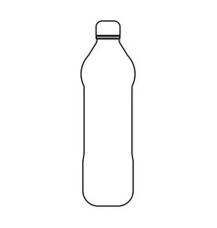Water plastic bottle the black color icon vector