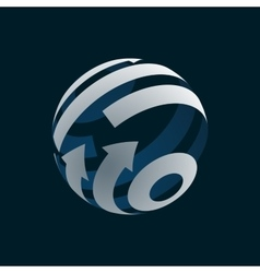 Abstract Globe Logo Element vector image vector image