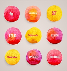 Abstract Watercolor Background Set vector image vector image