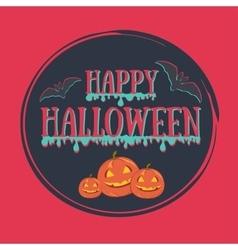Colorful Happy halloween vector image