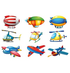 Planes and Balloons vector image vector image