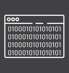 custom coding line icon seo and development vector image