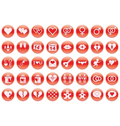 Day of Valentine icons vector image vector image