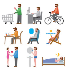 lifestyle icons vector image vector image