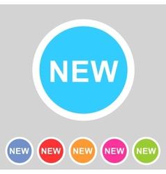 New badge flat icon sign set symbol vector