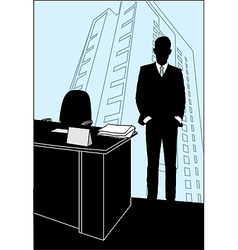 office poster vector image
