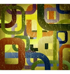 Abstract grunge square on green background vector image