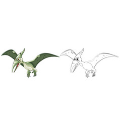 animal outline for pterosaur vector image