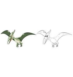 Animal outline for pterosaur vector