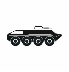 Armored personnel carrier icon simple style vector image