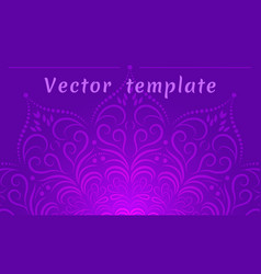Background for poster ethnic style mandala yoga vector