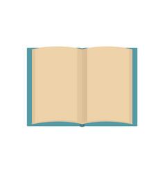 Book novel icon flat style vector
