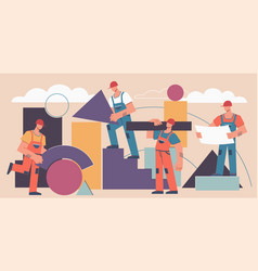 building construction concept professional vector image