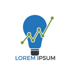 bulb lamp financial logo design vector image