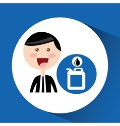 Businessman oil concept gallon drop oil vector