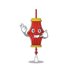 Call me cute chinese paper lanterns mascot cartoon vector
