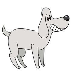 Cartoon cute smiles cartoon dog vector