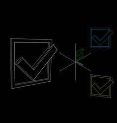 Checkmark icon tick sign outline vector