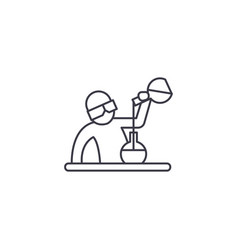 chemist at work line icon sign vector image