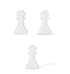 chess pawns set vector image