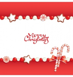Christmas candy background vector image