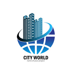 city world logo design vector image