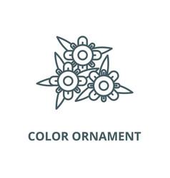 color ornament line icon color ornament vector image