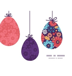 colorful bouquet flowers hanging Easter vector image