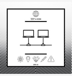 Computer network icon vector
