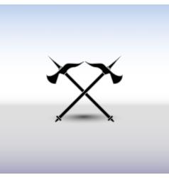 Crossed battle axes vector image