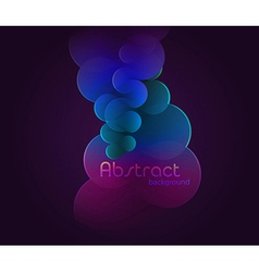 Dark glowing abstract vector image
