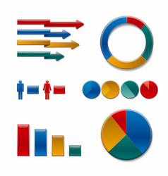 diagrams and charts vector image